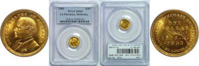 1903. PCGS. MS-65. La. Purchase - McKinley $1.