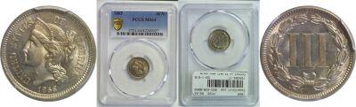 1865. PCGS. MS-64.