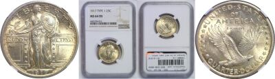 1917 T-1. NGC. MS-64. FH.
