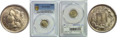 1865. PCGS. MS-65.