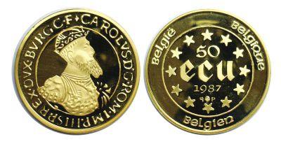 1987. Belgium. 50 Ecu. CPF.