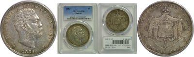 1883. Dollar. PCGS. AU-50.