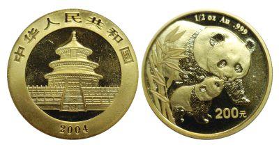 2004. China. 200 Yuan. GEM.