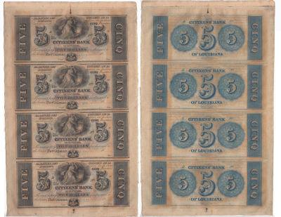 1850's. $5. CU. LA.