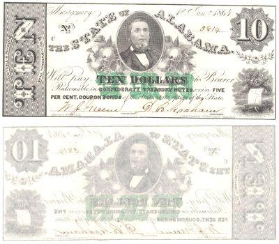 1864. $10. CCU. AL.