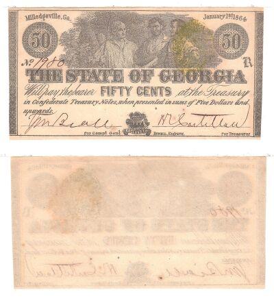 1864. 50c. CCU. GA.