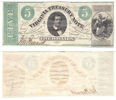 1862. $5. CCU. VA.