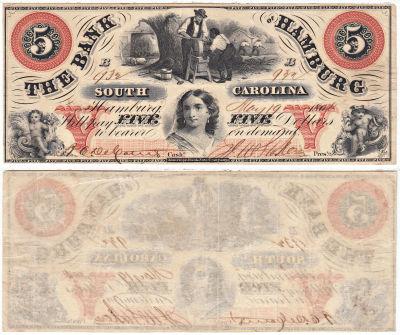 1860. $5. VF. SC.