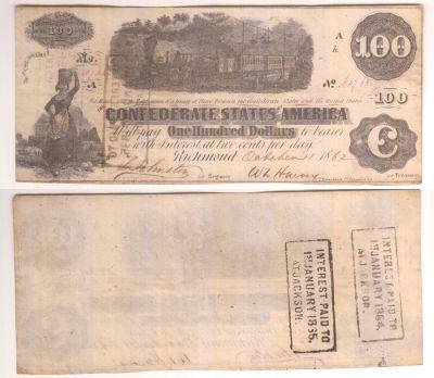 1862. $100. XF. T-40.