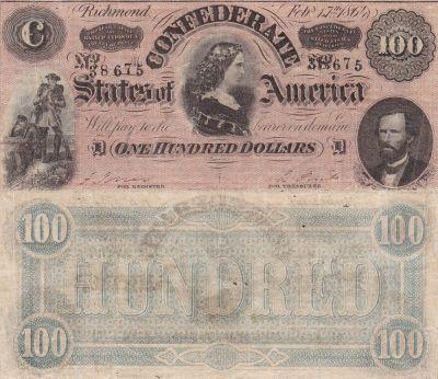 1864. $100. VF. T-65.