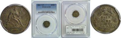 1861/0. PCGS. AU-55.