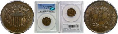 1864 Large Motto. PCGS. MS-65. BN.
