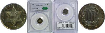 1871. PCGS. PR-66.