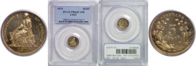 1870. Half Dime. PCGS. MS-64. CAM. J-810.