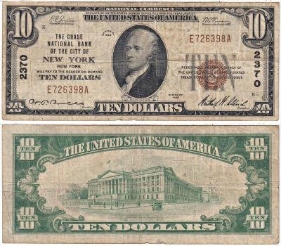 1929. $10. FINE. NY. New York. Charter 2370.
