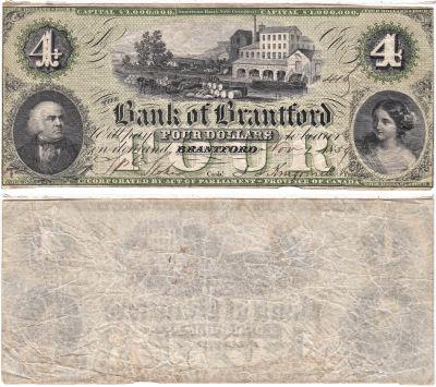 1859. Canada. $4. VF.