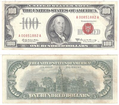 1966-A. $100. F-1551. VF. Legal Tender Note.
