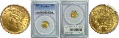 1858. PCGS. MS-65.