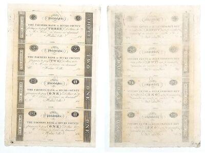 1810's. $3,$2,$1,$1. CCU. PA.