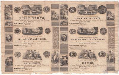 1841. 50c, 6 1/4c, 5c, 25c 12 1/2c, 10c. CU. MD.