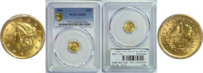 1851. PCGS. MS-65.
