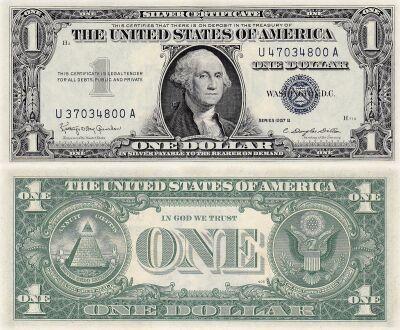 1957-B. $1. CCU. Silver Certificate.