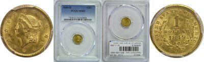 1849-O. PCGS. MS-63.