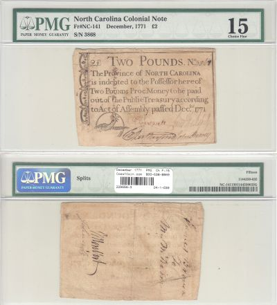December 1771. NC. Two Pounds. PMG. Ch F-15.