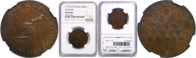 (1792-94). Kentucky Token. NGC. MS-64. BN.