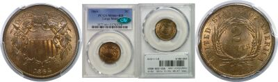 1864 Large Motto. PCGS. MS-66+. RB.