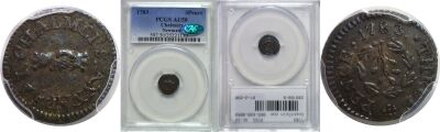 1783. Chalmers. PCGS. AU-50.