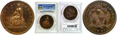 1870. $1. PCGS. PR-64. RB. J-1005.