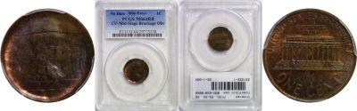 Undated. PCGS. MS-64. RB. Cent. Brockage.
