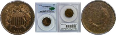 1864 Large Motto. PCGS. PR-65. RB.