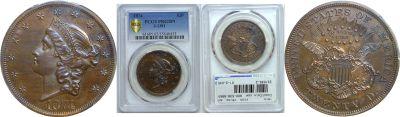 1874. Twenty Dollar. PCGS. PR-62. BN. J-1381.
