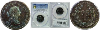 1870. Quarter. PCGS. PR-66. BN. J-896.