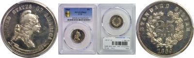 1869. Quarter. PCGS. PR-63. J-721.
