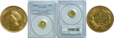 1855-O. PCGS. AU-58.
