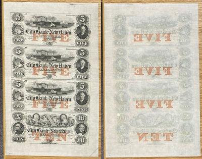 1860's. $5/$10. CU. CT.