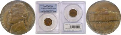 1960-D. PCGS. MS-63. BN. Nickel. Wrong Planchet.