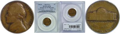 1962-D. PCGS. AU-58. Nickel. Wrong Planchet.
