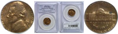 1970-D. PCGS. MS-64. Nickel. Wrong Planchet.