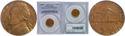 2000. PCGS. AU-58. Nickel. Wrong Planchet.