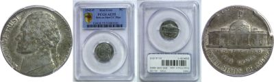 1943. PCGS. AU-55. Nickel. Wrong Planchet.