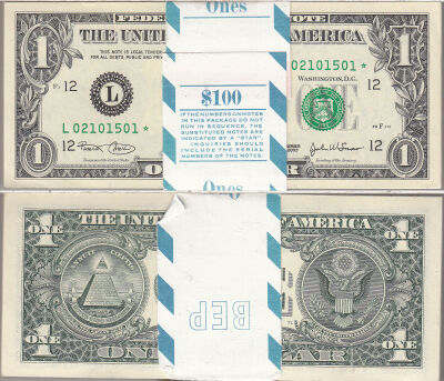 2003*. $1. F-1929-L*. CCU. Federal Reserve Note.