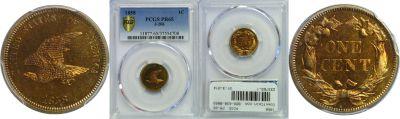 1858. Cent. PCGS. PR-65. J-206.