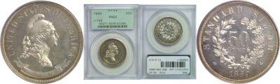 1869. Half Dollar. PCGS. PR-63. J-743.