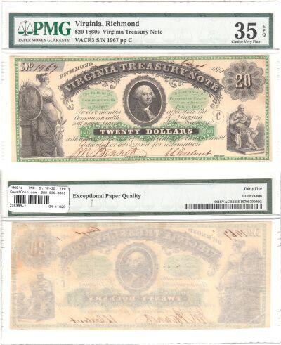 1860's. $20. PMG. Ch VF-35. EPQ. VA.