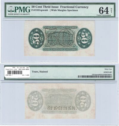 50c. 3rd Issue. PMG. Ch Unc-64. Net. F-1331SP.