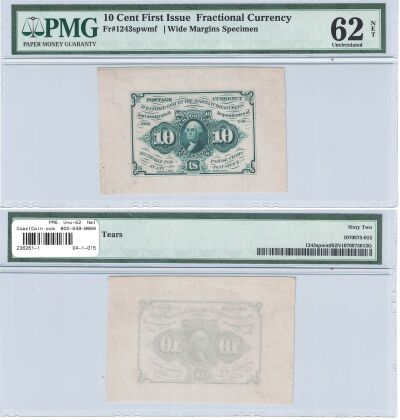 10c. 1st Issue. PMG. Unc-62. Net. F-1243SP.